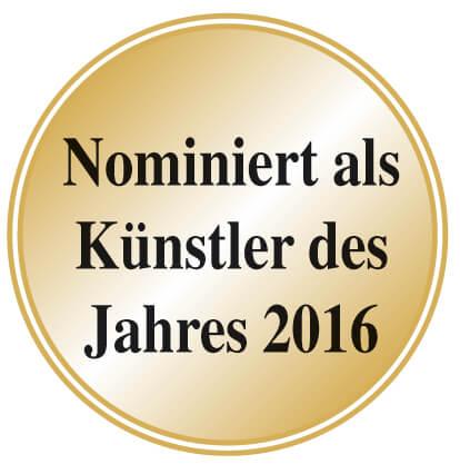 Nominiert als Künstler des Jahre 2016